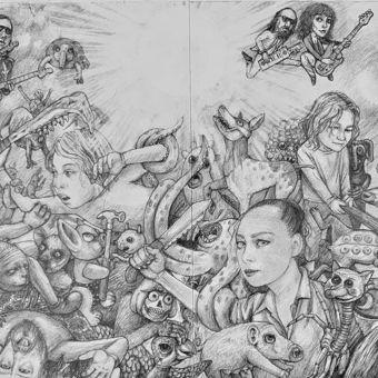The skeleton crew - pencil on paper (55x42)