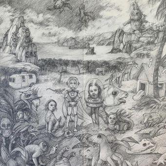 Future Paradise - pencil on paper (33x40)